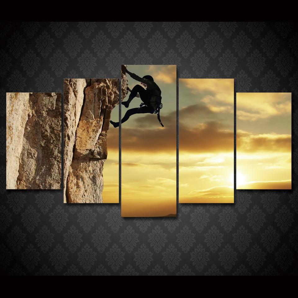 5 Teile/satz Gerahmte HD Gedruckt Klettern Sport Wall Art Bild ...
