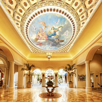 custom 3d effect photo painting wallpaper large yellow ceiling angel theme wall mural splendid living room hotel hall wallpaper