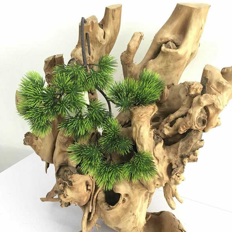 Welcoming Pine Artificial Tree Bonsai Decoration Simulation Green Plants Fake Flowers Welcome Pot Vase Wedding Home Dexor