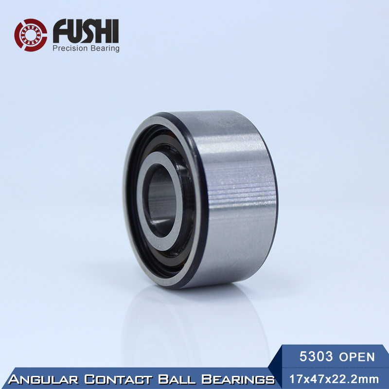 5303 OPEN Bearing 17 x 47 x 22.2 mm ( 1 PC ) Axial Double Row Angular Contact 5303 3303 3056303 Ball Bearings 1pcs 71822 71822cd p4 7822 110x140x16 mochu thin walled miniature angular contact bearings speed spindle bearings cnc abec 7