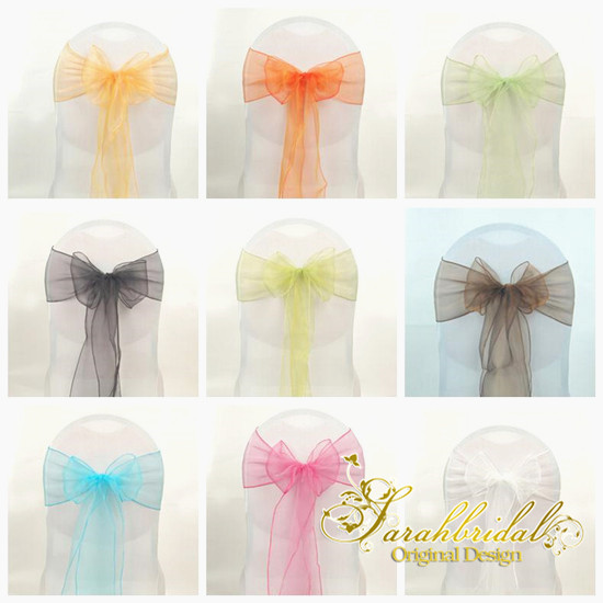 aliexpresscom buy colorful organza wedding chair sash diy table runner swag wedding party decorations 18275cm decoration mariage wcs001 from reliable - Aliexpress Decoration Mariage