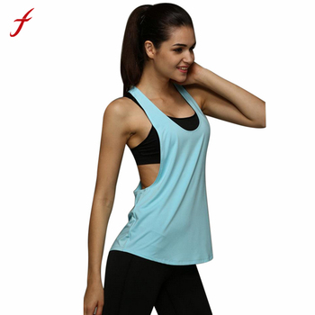 FEITONG T-shirts for Women Summer Tops Clothing for Fitness Sexy Singlet Tank Top Loose Women Fitness Clothes Ropa Deportiva#179 Top