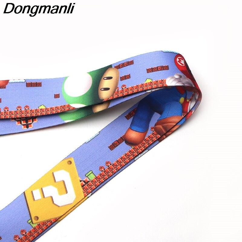 M1676 dongmanli Марио ремешок для ключей ID карты Пасс Gym мобильный телефон USB значок держатель повесить веревку Лариат шнурки