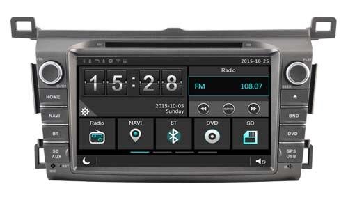 Новый HD экран dvd-плеер GPS Navi мультимедиа для Toyota RAV4 2014 головного устройства Радио стерео с радио Bluetooth карта бесплатная камеры