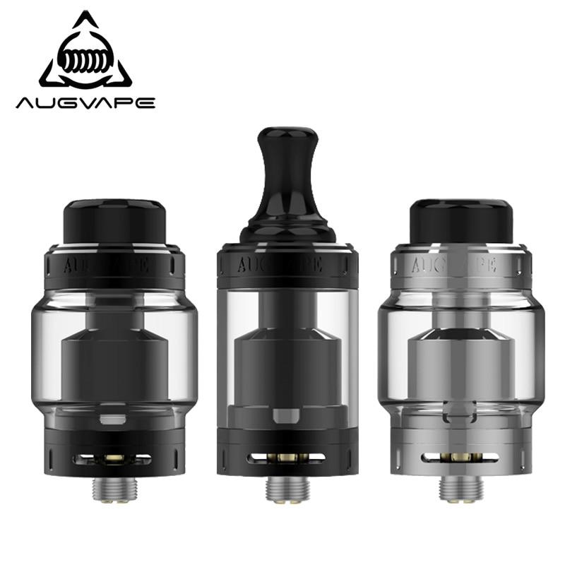 Augvape Merlin MTL RTA Atomizer 5ML 22MM Top Filling Purest Flavor 3ml Spare Glass Tube MTL Drip Tip Vape Tank RTA