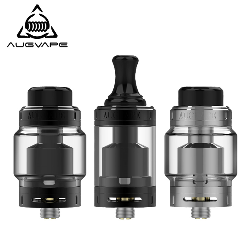цена Augvape Merlin MTL RTA Atomizer for electronic cigarettes 5ml 22MM Top filling 510 Thread MTL Drip Tip Vape Tank RTA