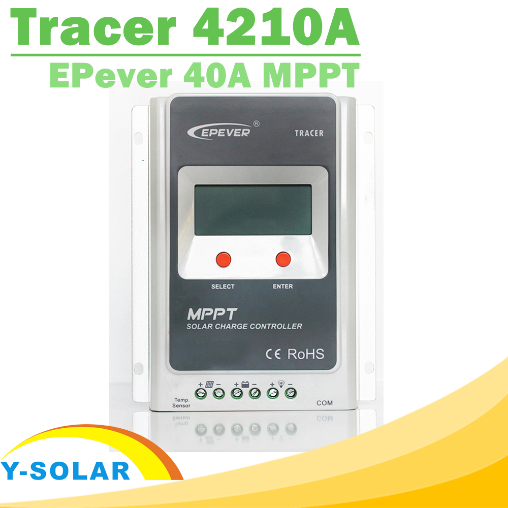 все цены на MPPT Charge Controller 40A Tracer 4210A 12V 24V Auto Work LCD for Max 100V Input RS485 Communication Solar Regulator EPever онлайн