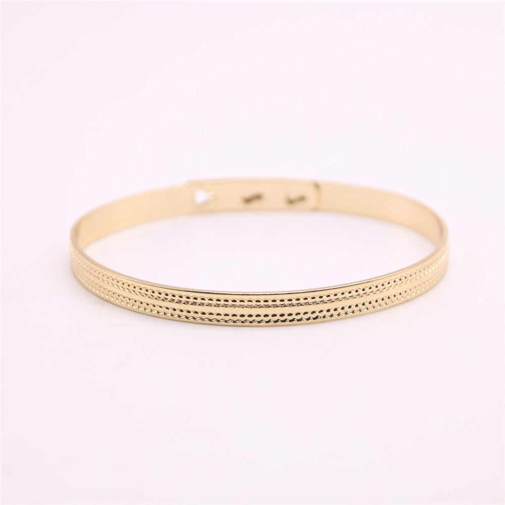 Circle with fine lines bangles for girls Coarse round women bangles Retail and wholesale mix Free shipping
