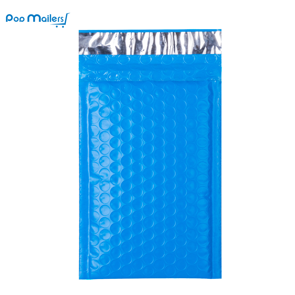 10pcs 000 poly bubble mailers 4x8 inch 130 180mm bubble envelopes blue bubble lined poly mailer