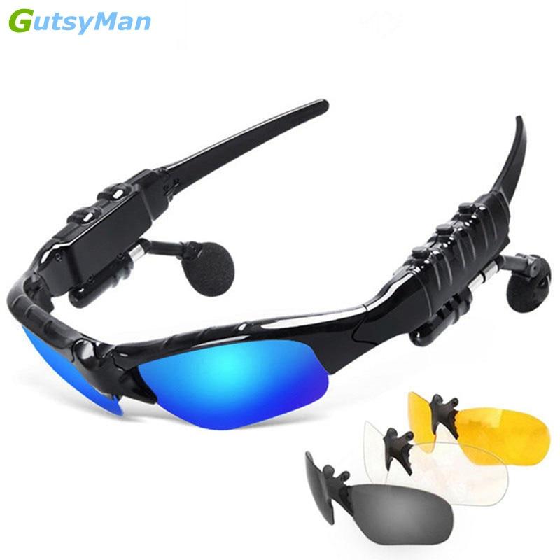 GutsyMan Fashion Sports Stereo Wireless Bluetooth 4.1 Headset Telephone Polarized Driving Sunglasses/mp3 Riding Eyes Glasses