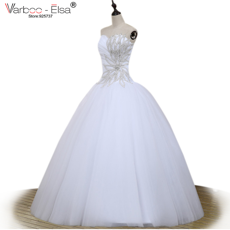 Aliexpress Buy New Arrival Fashionable Ball Gown Tulle Beaded Crystal Wedding Dresses Real