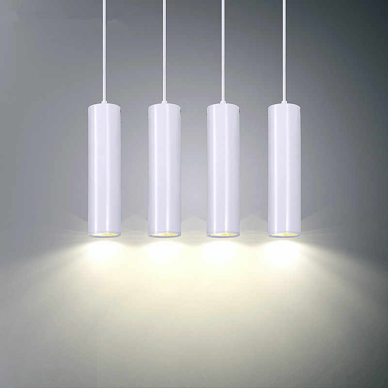 colgantes colgante tienda lámparas LED de iluminación cilíndrico Tubo cocina Bar suspensión lámpara isla comedor colgantes luces mostrador tubo n0m8Nw
