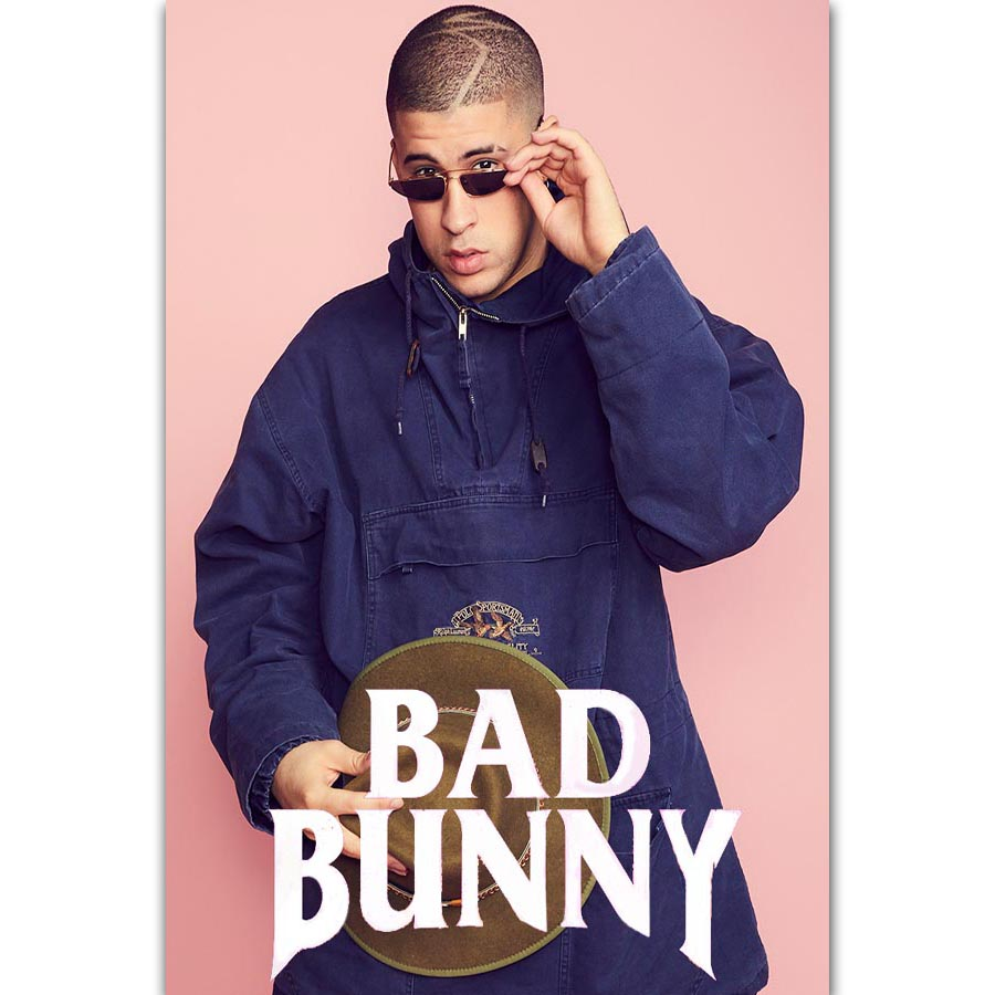 Custom Silk Poster Bad Bunny Wall Decor 20x13 Inch