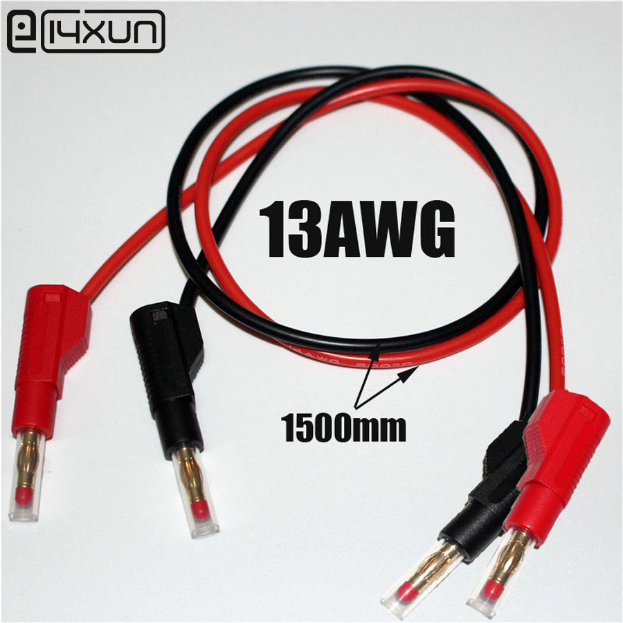 10pcs 1500mm High Flexible silicone Test Leads with 32A 600V Retractable Stackable 4mm Banana Plug Soldering