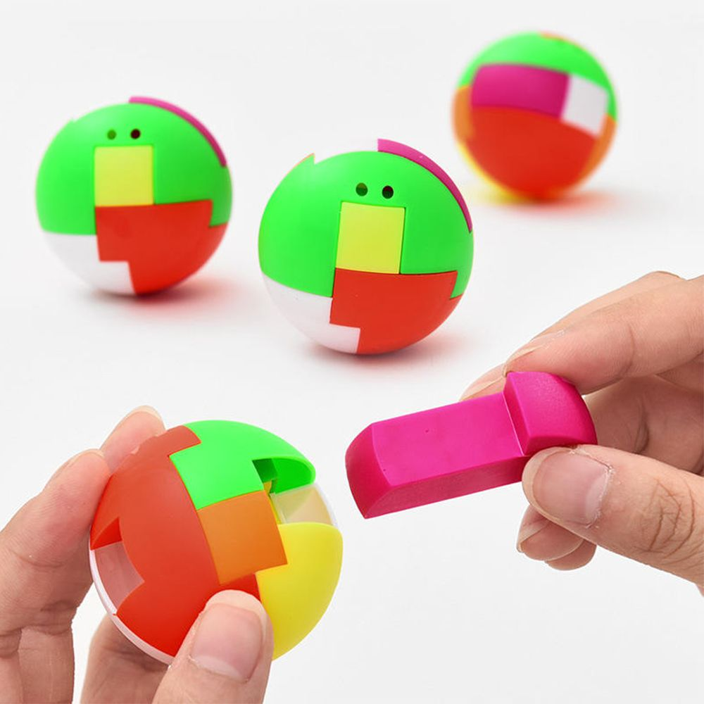 1pcs Puzzle Cube Assembling Ball Creative Education Kids Children Gift Toys Plastic Mini Multi-color Ball Toy Random Color