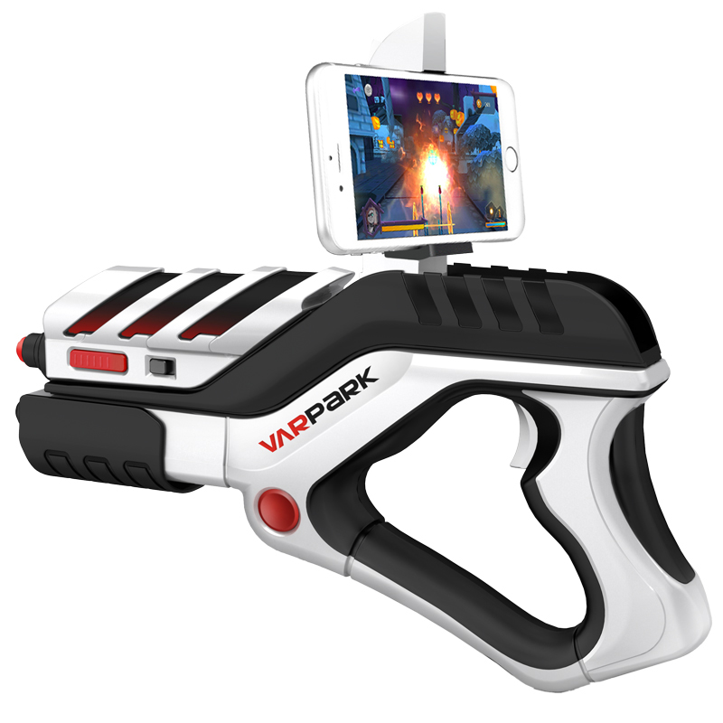 2018 Newest Portable Bluetooth AR Gun VR AR Game Gun controllers AR Toy Game Gun with 3D AR Games for iPhone Android Smart Phone