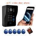 Suporte P2P campainha interfone telefone Video da porta de toque Sem Fio WI-FI à prova d' água ip nuvem android/ios APP desbloquear alarme de movimento