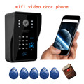 Support P2P Wireless touch waterproof WIFI Video door phone intercom doorbell ip cloud android/ios APP unlock alarm motion