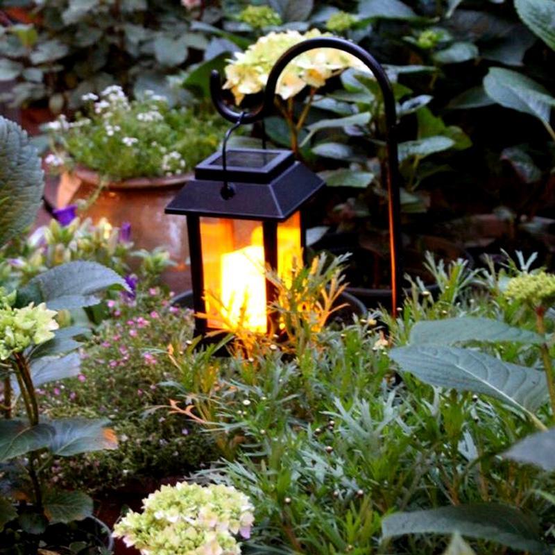 Outdoor Waterproof LED Solar Lantern Lights Vintage Candle Lanterns Solar Powered Ambience Landscape Light For Garden Patio vintage led solar lantern lights outdoor hanging light candle lantern solar powered garden lamp for garden lawn patio