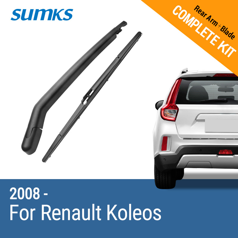SUMKS Rear Wiper & Arm for <font><b>Renault</b></font> <font><b>Koleos</b></font> <font><b>2008</b></font> 2009 2010 2011 2012 <font><b>2013</b></font> 2014 2015 image