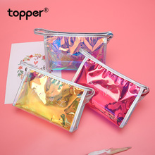 New laser pen bag cosmetic bag creative personality small bag youth fashion trend student pencil case stationery bag