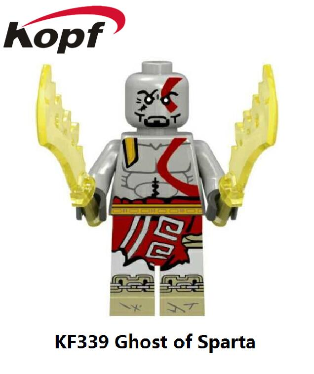 Custom Made Ghost Of Sparta Kratos Six God Combination Dolls Building Blocks Toys Godmars Children Gift Drop Shipping KF339 god of war ghost of sparta kratos pvc action figure collectible model toy 22cm christmas gifts