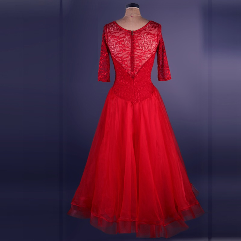 ballroom waltz for women standard dance competition dresses standard waltz flamenco tango purple red lace ladies