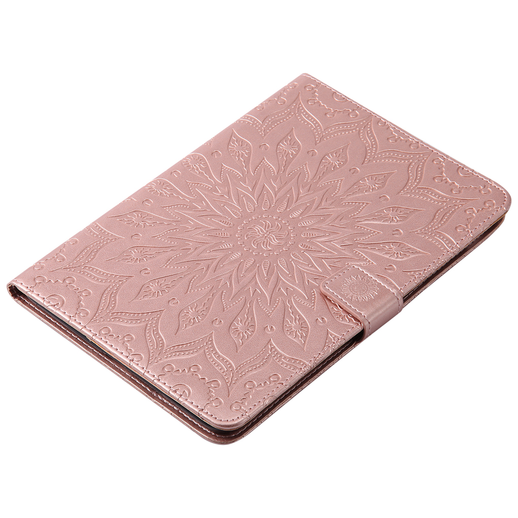 For iPad Mini 1 2 3 Sunflower Emboss Flip TPU Leather Case Card Slot Stand Wallet Tablet Cover Shockproof Case