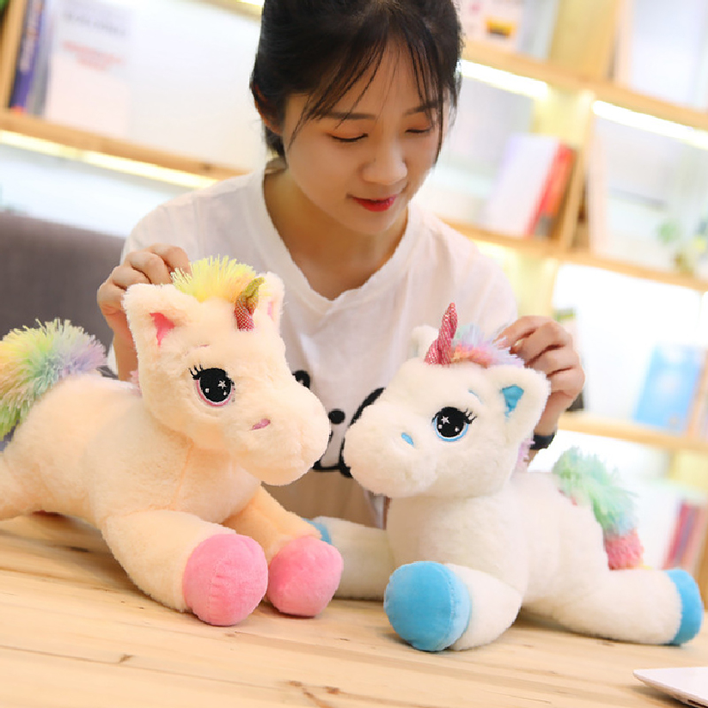 28 Cm Lucky Star Rainbow Wings Movable Unicorn Plush Toys For Children Stuffed & Plush Animals