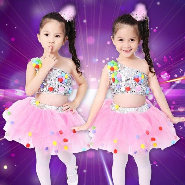 12 colores trajes de baile para niños trajes de baile jazz vestido de ballet  chica lentejuelas 9bb16abf419