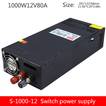 Industrial switching power supply S-1000W-12V80A high power power supply centralized power supply 220v110v280v to DC 12V