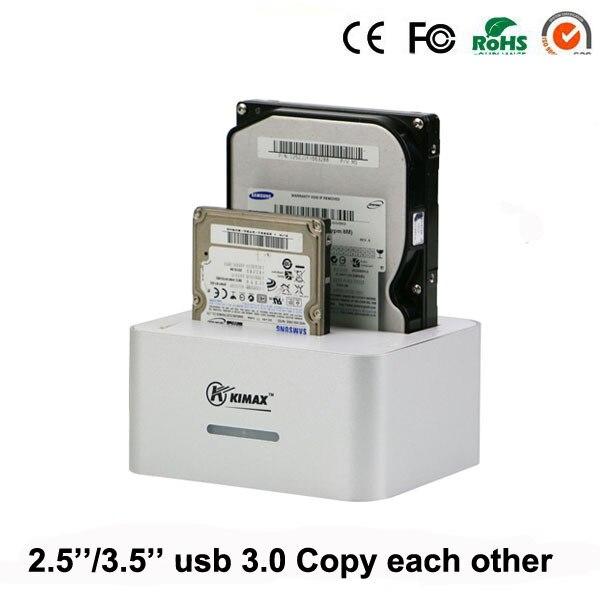 Dual Bay hard disk hdd docking 2.5/3.5 inch hard disk box usb 3.0 external hdd case hdd aluminum external 2.5 hard enclosure
