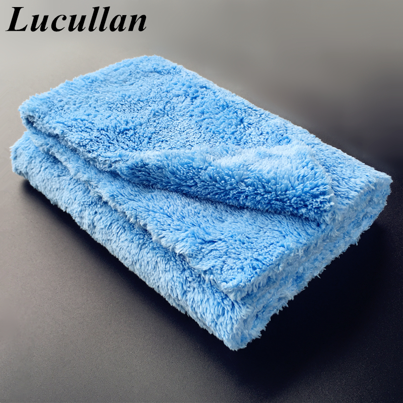 Ultra Thick-450GSM Edgeless Microfiber Cloth 16''X16'' No Edge Premium Detailing Towel For Polishing,Buffing,Finishes,Car Wash