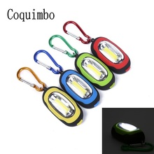 COB LED Flashlight Light 3 Modes Mini Lamp Key Chain Ring Keychain PVC Lamp Torch Keyring Green/Red/Yellow/Blue