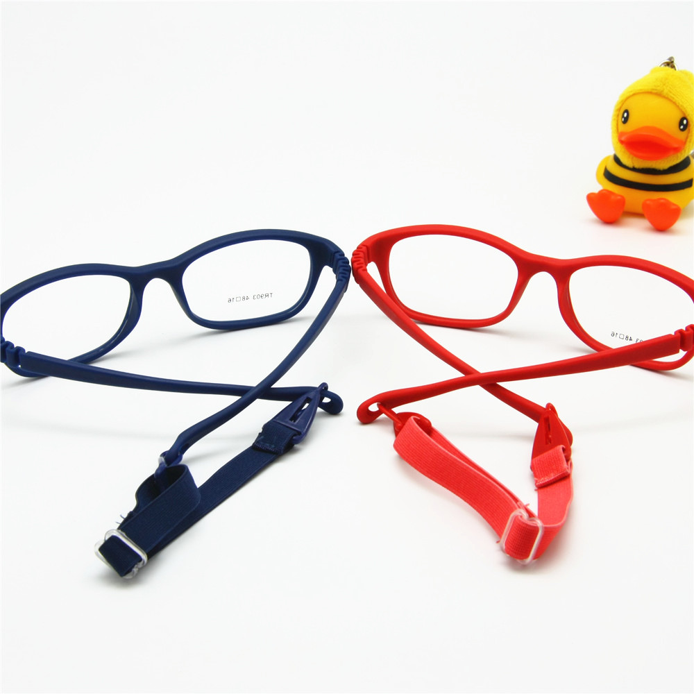 aliexpresscom buy children optical glasses frame with strap size 48 one piece kids glasses with cord no screw flexible girls boys glasses from reliable
