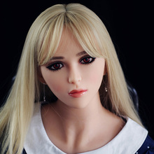 Aiyijia Elf face 49# oral sex doll head, realistic full silicone sex love doll head for 135-170cm body high quality