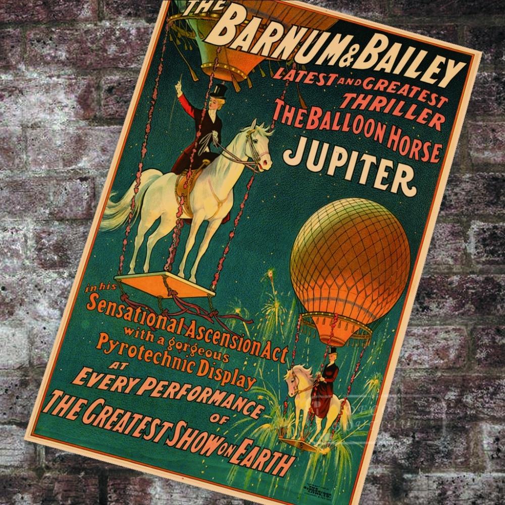 American Vintage Circus Poster the balloon horse Jupiter ...