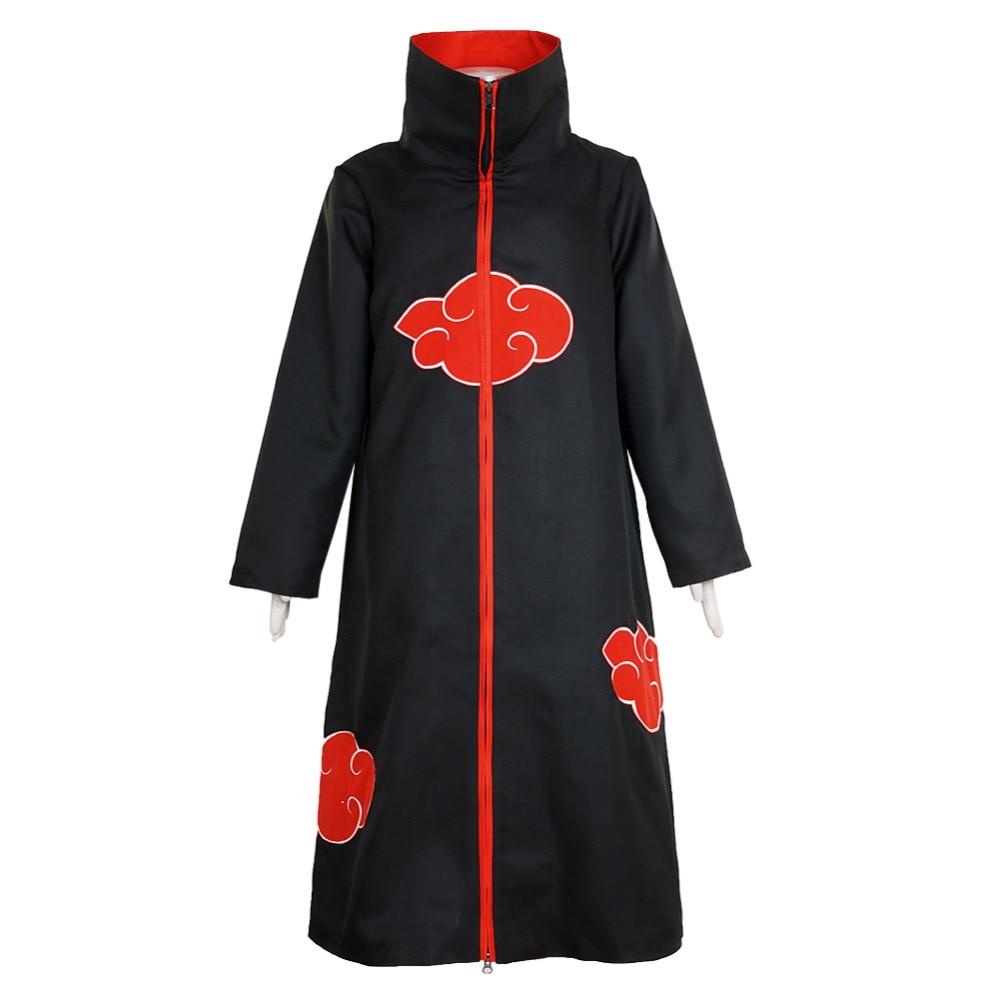 Halloween Naruto Akatsuki Itachi Uchiha Cloak Uniform Cosplay Costume Naruto Cloud embroidery Robes