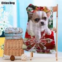 dog Pattern Beach towel christmas gift does not fade Microfiber Travel outdoors Sports Swimming Camping Bath Yoga Mat Blanket