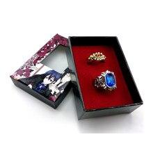 Accessoires de Cosplay de majordome noir, bague en forme de Ciel fantôme, dessin animé, collier, pendentifs, Bracelets, Badge, ensemble pour cadeau