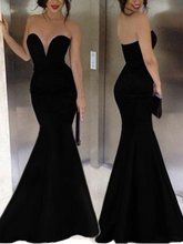 robe de soriee Cheap Sexy Swetheart Long Black Mermaid Evening Gowns 2019 Vestidos Noiva Custom Prom Formal Party Drsses