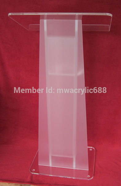 Free Shipping HOT SELL Beautiful Simple Elegant Acrylic Podium Pulpit Lectern podium plexiglass