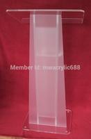 Free Shipping HOT SELL Beautiful Simple Elegant Acrylic Podium Pulpit Lectern podium plexiglass