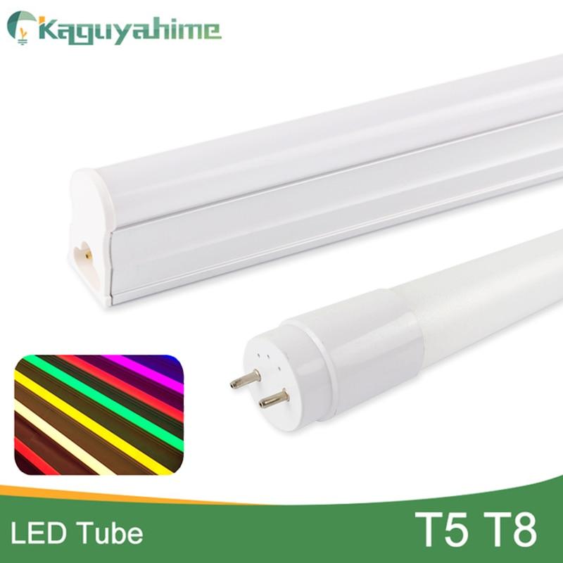 Kaguyahime Integrated RGB LED Tube T5 LED Grow Light Tube Lamp 220V 110V 6W 10W Fluorescent LED Red Green Bule Pink 30cm 60cm