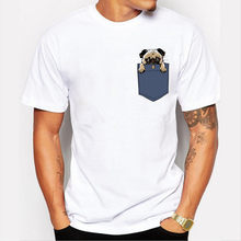 04c977b72 Newest Pugturday Men t-shirt pug in pocket design male funny tops cartoon  printed hipster short sleeve cool tee Lasting Charm