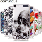 Touch 6 Case For Apple iPod Touch 5 Case For Coque iPod Touch 6 Phone Cases flower Soft TPU Silicone Transparent Back Cover