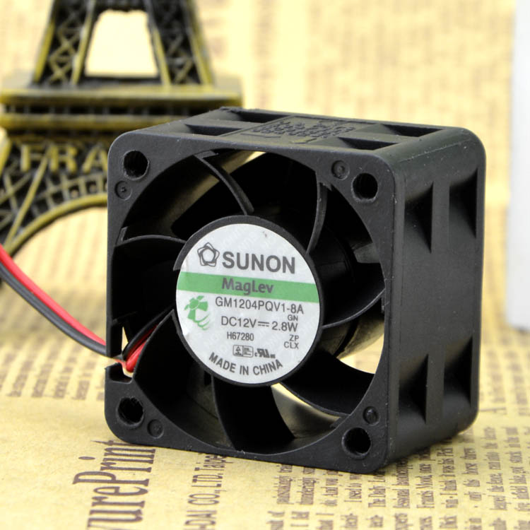 Free shipping sunon GM1204PQV1-8A 4cm 4028 12V 2.8W 1U2U server fans 2-wire version 40x40x28mm