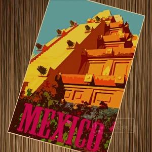 Постер для путешествий, винтажный Ретро-постер, парусина, 6 вариантов, Латинская Америка, Мехико, сделай сам, настенные бумажные постеры, укр...
