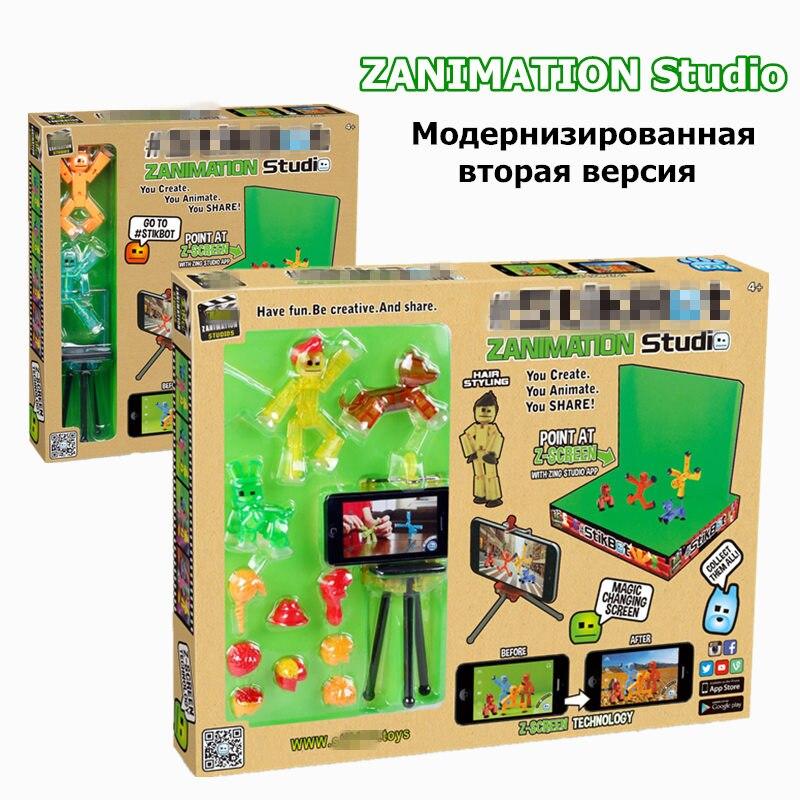 StikBot acción paquete rol accesorio StikBots muñecas juguetes interesante regalo de cumpleaños StikBot estudio figura de acción de juguete