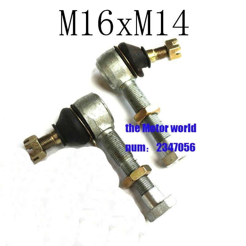 Atv 1 Par De Bolas De Unión U-joint M14x16 Cabeza De Bola Barra De Lazo Extremo Para Atv Quad Turn Joint Ball Repuestos